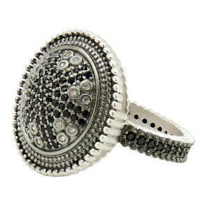 Freida Rothman Sterling Silver Round Cocktail Ring